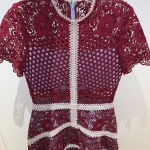 ALEXIS WORN ONCE burgundy rustikan dress size S.